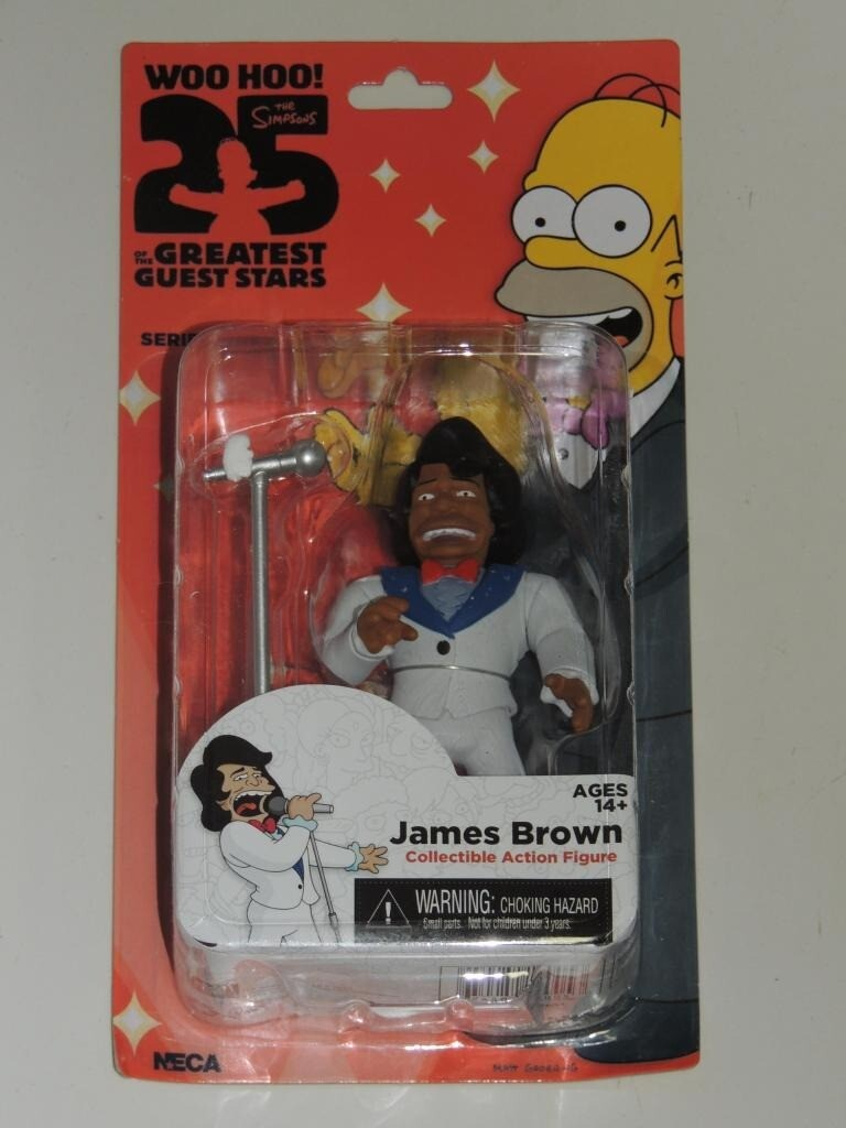 """NECA les simpsons 25TH Anniversary Series 1 James Brown 5/"""" Action Figure"""