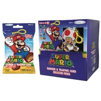 Super Mario Hanger Clip & Trading Card Collector Pack Blind Pack (Sold Separately)