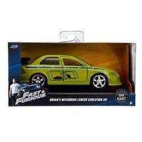 Hollywood Rides - Fast & Furious - Brian's Mitsubishi Lancer EVO VII - 1:32 Scale Die-Cast Metal Vehicle