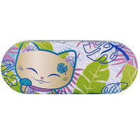 Top Model - Glasses Case - Green Mani cat