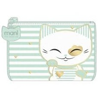 Mani The Lucky Cat – Coin Purse – Aqua (CAT044)