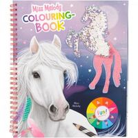 Miss Melody - Reversible Sequin Horse - Colouring Book