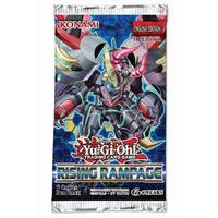 YU-GI-OH! TCG Rising Rampage 9 x foil card Booster (Sold Separately)