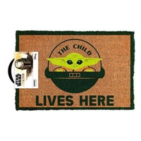 Star Wars: The Mandalorian- The Child Lives Here! -  Doormat