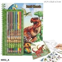 Dinosaur World - Colouring-In Book With Coloured Pencils