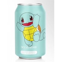 Ocean Bomb Pokemon Squirtle Pear Sparkling Water Can Drink